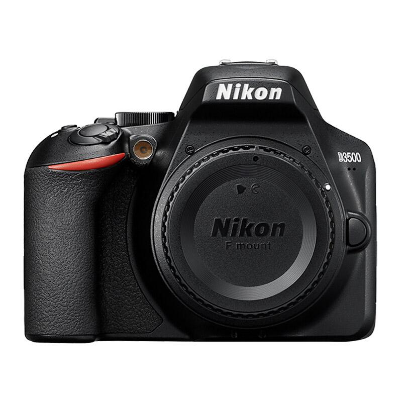尼康D3500入门级单反数码照相机,机身(约2,416万有效像素,易于握持 操作简便)