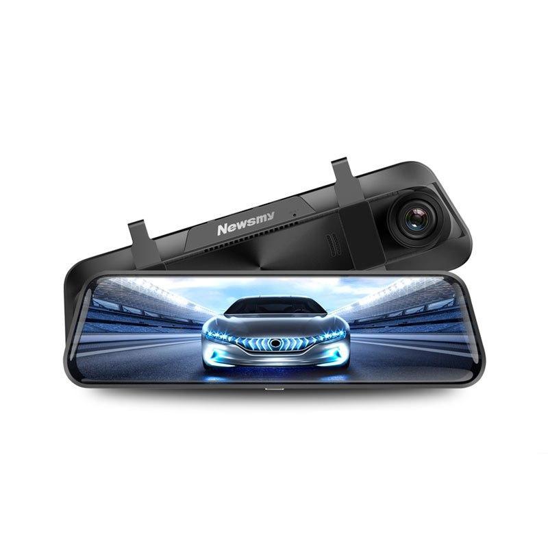 纽曼A6行车记录仪高清夜视流媒体汽车载前后双录倒车影像24小时停车监控
