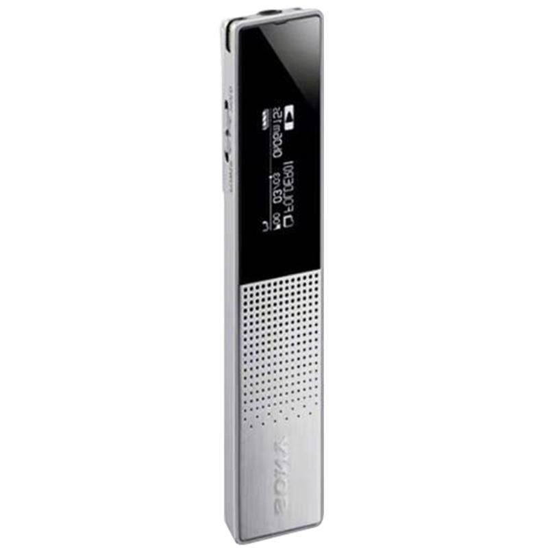 索尼录音笔,ICD-TX650 16GB 银色 商务专业高清降噪 迷你便携式会议上课用 超长待机大容量录音器