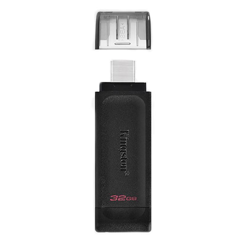 金士顿(Kingston)32GB USB3.2 Gen1 Type-C U盘 DT70 黑色