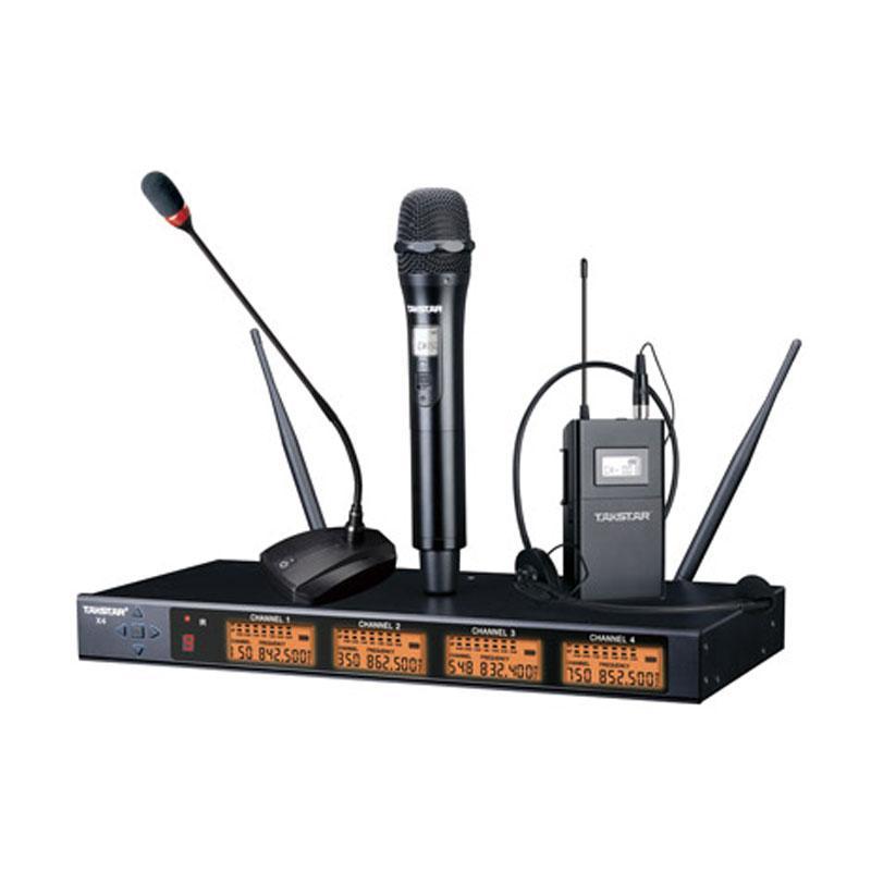 得胜四通道 UHF无线麦克风 X4(含x4-TH 4只 GN-45 4只),X4