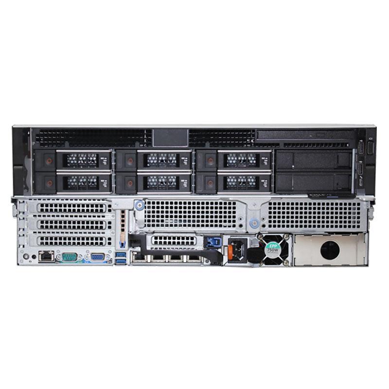 戴尔服务器R740 铜牌3106*2/16GB*2/2TB SAS 7.2K*3/H330+/750W冗电/静态导轨Server2012 R2/SQL2012