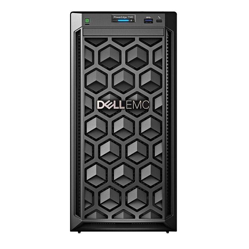 戴尔塔式服务器,T140 E-2224/8GB/1TB SATA 3.5*2/365W/不含系统