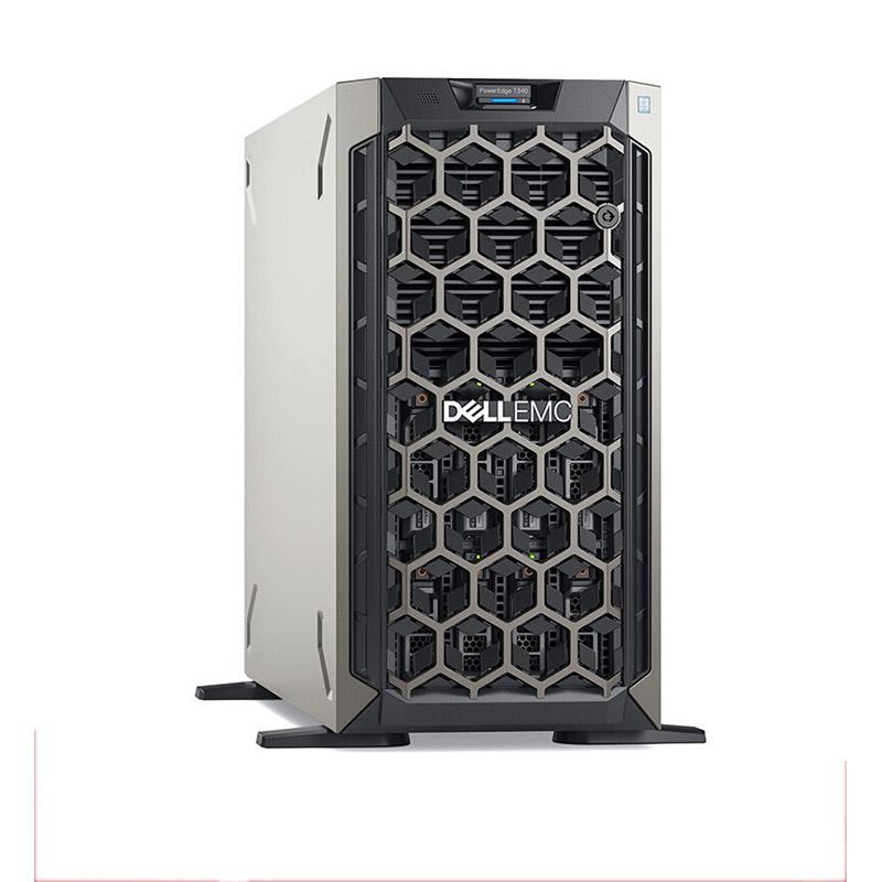 戴尔塔式服务器,T340 E-2224/16GB*2/1TB SATA 7.2K 3.5*2/PERC H330+/350W/不含系统