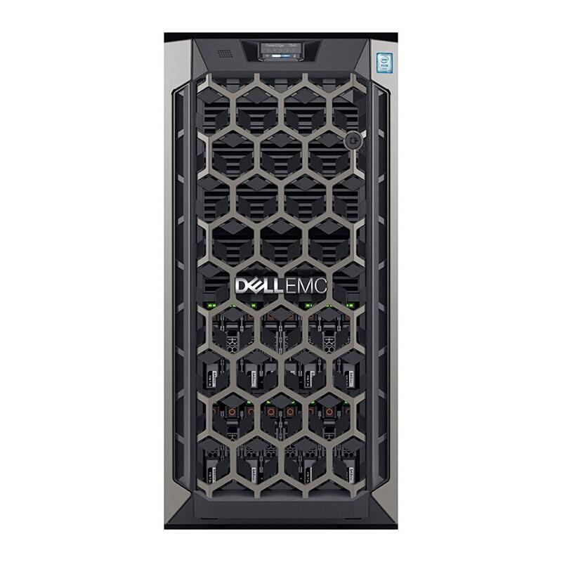 戴尔塔式服务器,T640 银牌4208/8GB/600GB SAS 10K 2.5*2/PERC H330+/BCM5720/450W/不含系统