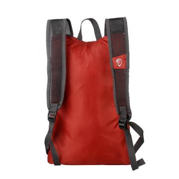 MASCOMMA 双肩背轻便折叠收纳包, BS00804/RD (砖红) 单位:个
