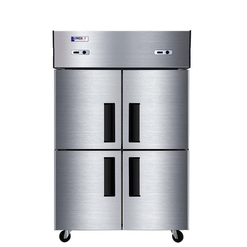 星星 立式双温商用冰箱,BCD-860Y,四开门不锈钢
