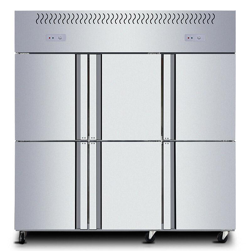 星星 1300L商用六门厨房立式双温不锈钢冷藏冷冻冰箱,BCD-1300E