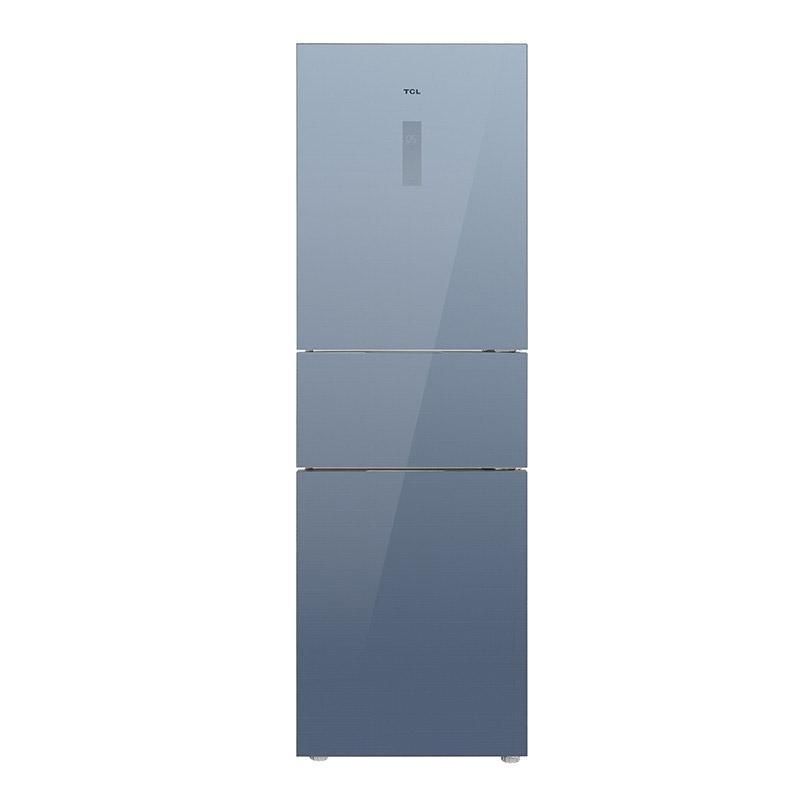 TCL 260L三门家用冰箱,260P6-C,风冷无霜,双变频,AAT养鲜,中门变温