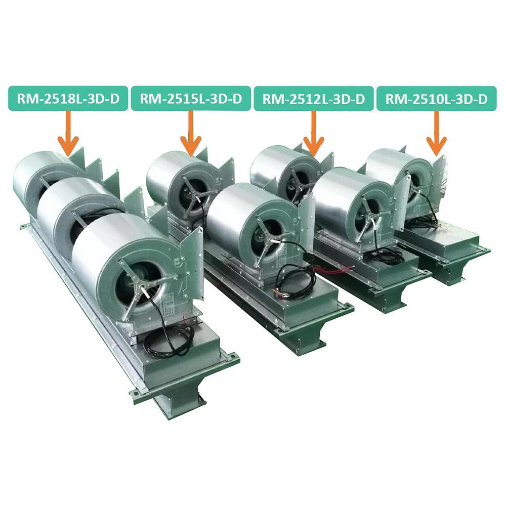 绿岛风 大风量离心式热风幕机(PTC电热型),RM-2518L-3D-D,380V,9600m3/h。不含安装