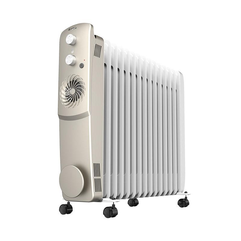 艾美特 电热油汀,HU1526-W1,1200W/1500W/2700W,暖风档300W,15片双擎发热