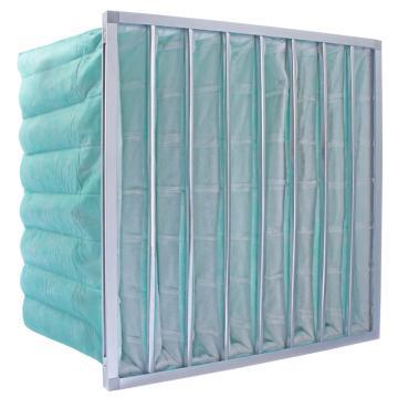 FLMFIL 铝框袋式中效空气过滤器,宽*高*厚度594*594*360mm,过滤效率F7,板厚21mm,袋数6个