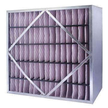 FLMFIL 镀锌框隔板型中效空气过滤器,292*594*150mm,过滤效率F7