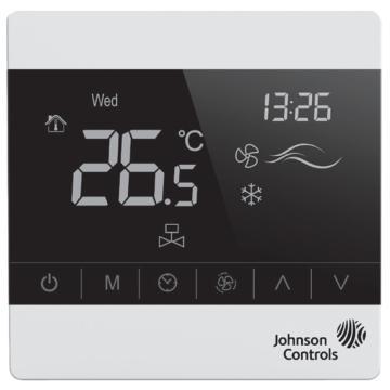 江森 风机盘管触屏温控器,T8200-TB20-9JF0,地采暖温控器