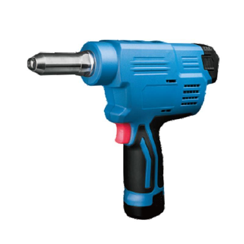 东成充电式抽芯铆钉枪 冲程20mm φ2.4-φ5.0全材质 12V 2.0Ah电池 两电一充 DCPM50E型