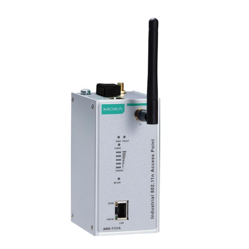 摩莎Moxa 工业无线AWK-1131A能够在2.4GHz或5GHz频段下操作,AWK-1131A-EU