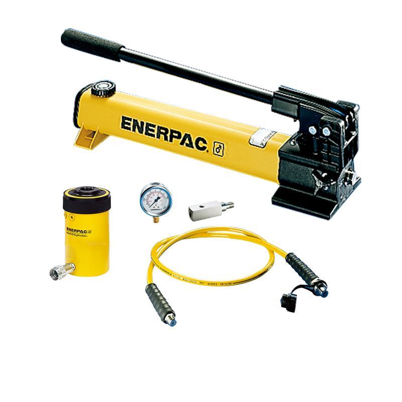 恩派克ENERPAC 中空柱塞液压缸套装,13ton,42mm,RCH-121*(含油缸+泵+软管+表+表座)