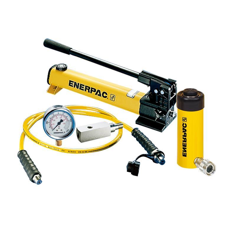 恩派克ENERPAC 单作用液压缸套装,15ton,51mm,RC-152(含油缸+手动泵+软管+压力表+表座)