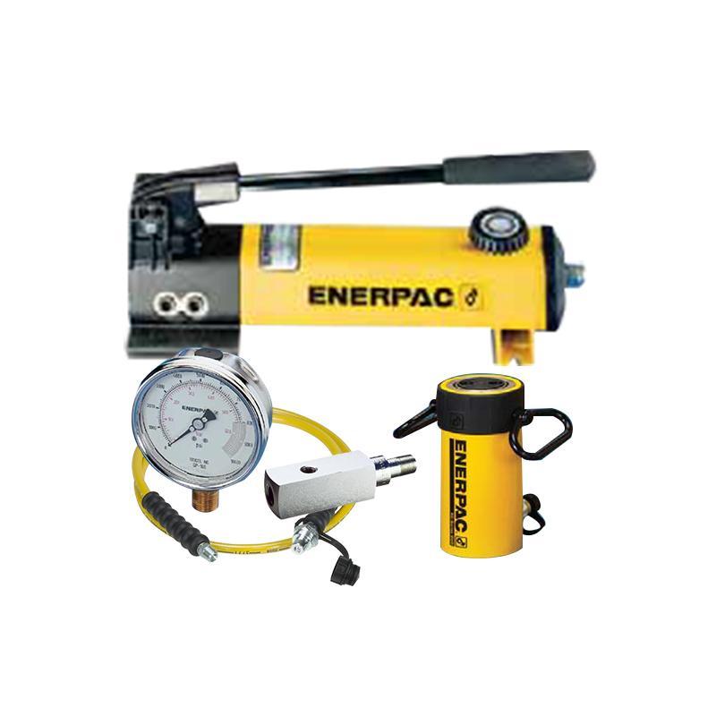 恩派克ENERPAC 单作用液压缸套件,25ton 158mm,RC256(含油缸+手动泵+软管+压力表+表座)