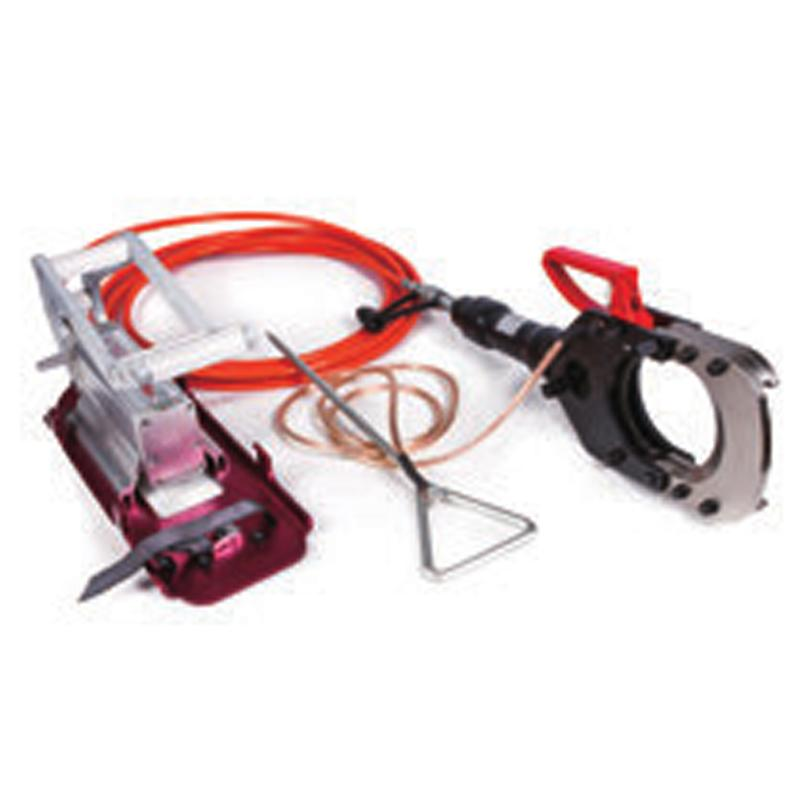 贝特 手动脚踏带电电缆防护安全切刀 切割φ132mm带铠装的铜/铝电缆 出力10T HICT-132-35KV