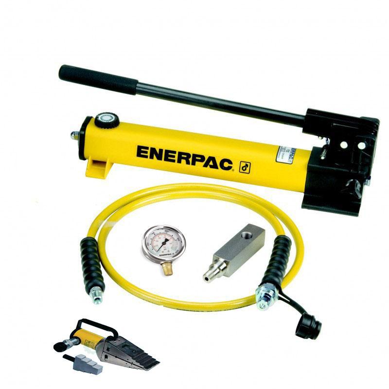 恩派克enerpac液压法兰分离器套装,14吨,STF-14H(含分离器+手动泵+软管+压力表+表头)