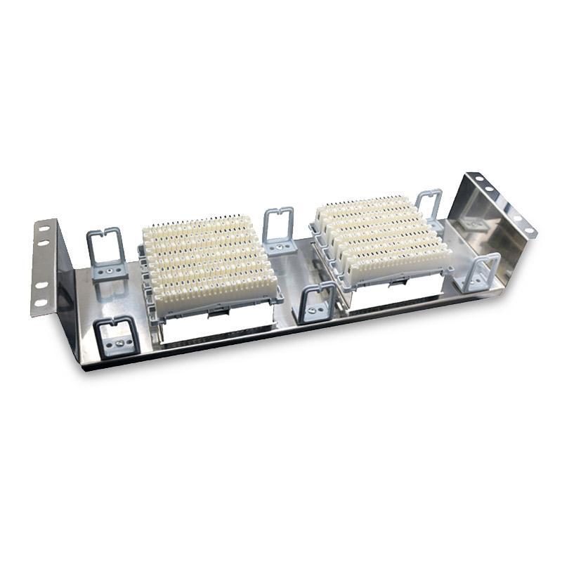 海乐 VDF电话配线架 100对100回路语音配线架不锈钢机架式科龙模块 HT-VDF-100