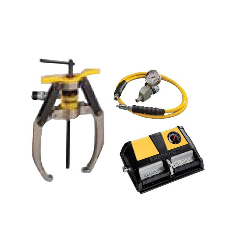 恩派克ENERPAC 自锁紧式液压拔轮器套件 14ton 3爪(含拔轮器+泵XA11G和油表表座油管) LGHS314A