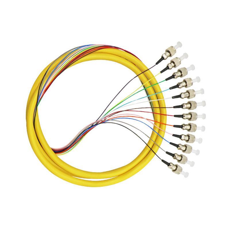 海乐 FC电信级单模12芯束装尾纤 法兰盘分纤箱ODF配线架专用 12FC-S1.5
