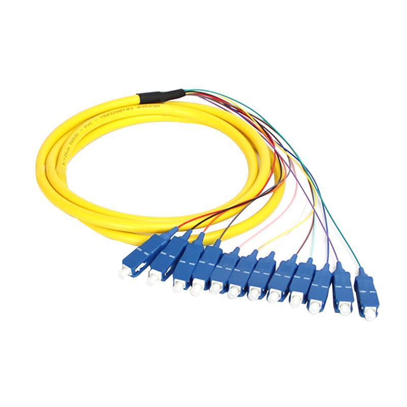 海乐 SC电信级单模12芯束装尾纤 法兰盘分纤箱ODF配线架专用 12SC-S1.5