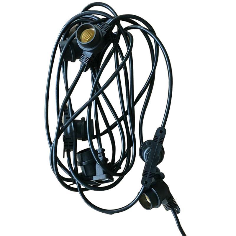 畜牧灯泡专用灯头,含10个E27灯头(2灯头间隔3米),单位:根