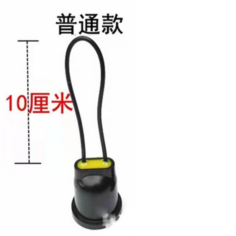 JY E27灯头,黑色橡胶木,防水,吊线10mm,单位:个