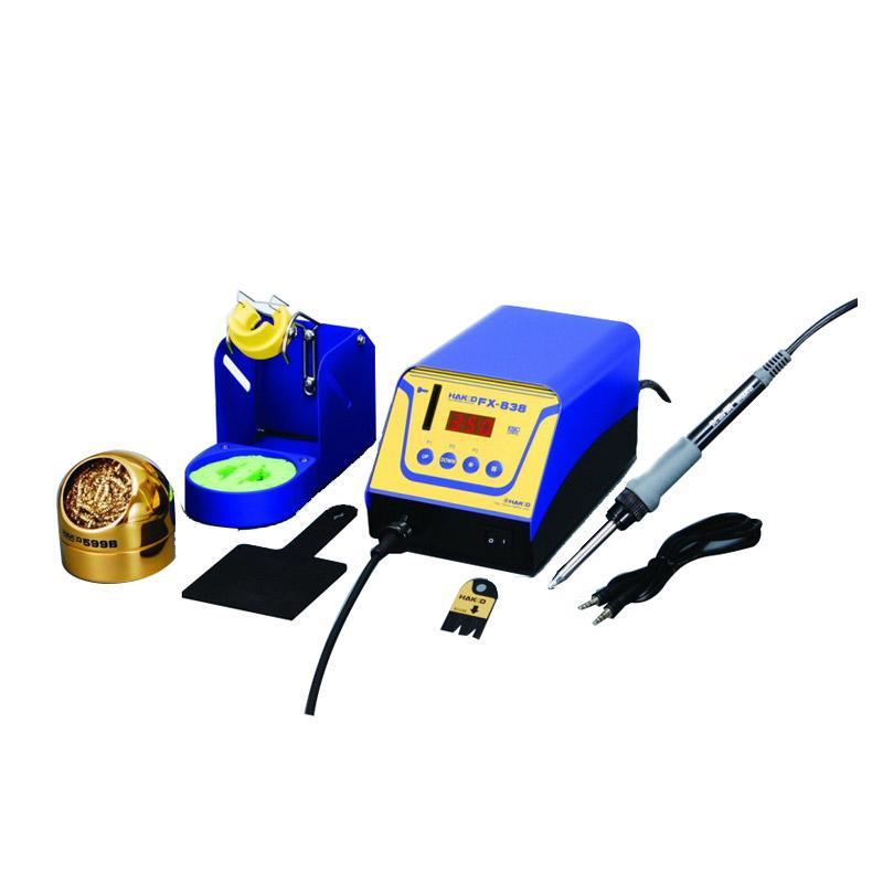 白光HAKKO 高热容量电焊台,158W,FX-838,包含烙铁FX-8301烙铁架,不含烙铁头需另购