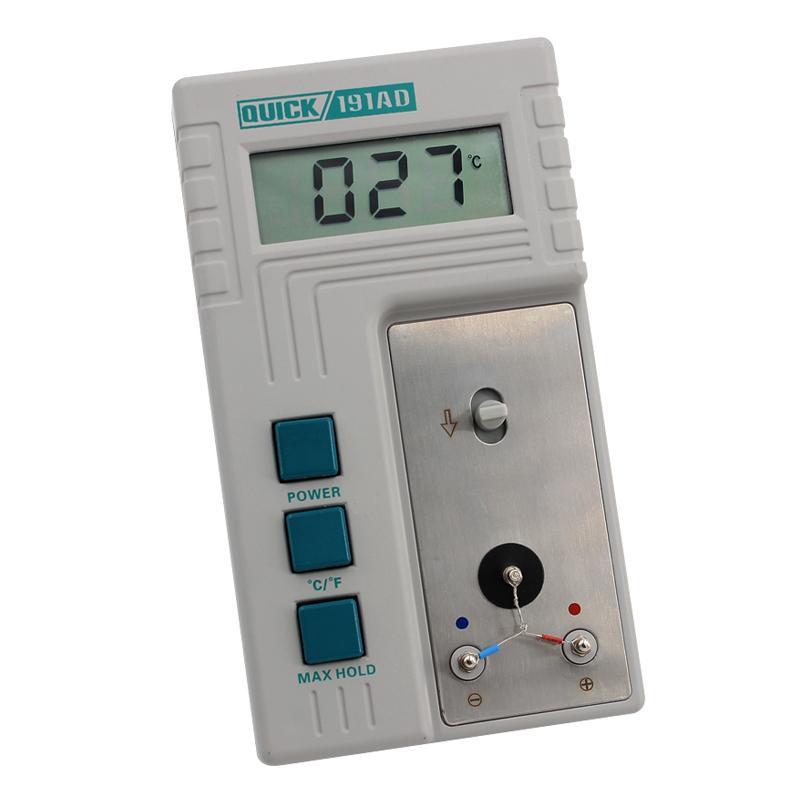 快克QUICK 烙铁头测温仪温度计,0-800度,QUICK191AD,烙铁温度测试仪传感器测量仪烙铁专业测温计