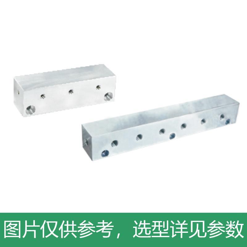 怡合达 气压用连接块,I形,端面贯穿,2孔,KAC01-2K-11