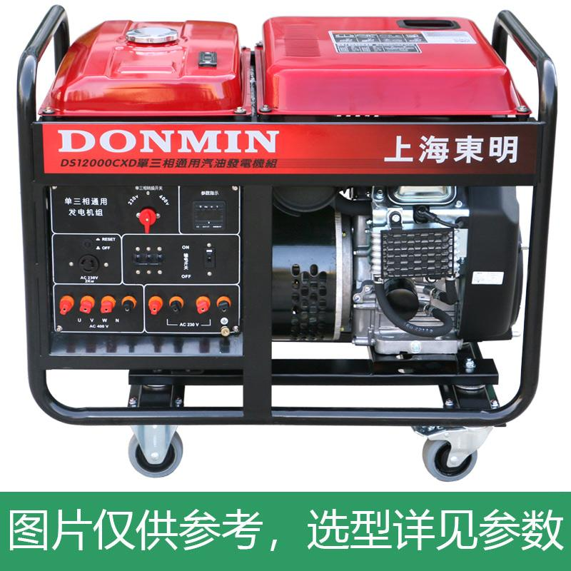 上海东明 开架式单三相通用汽油发电机组,10kW,DMDS12000CXD,电启动,含电瓶