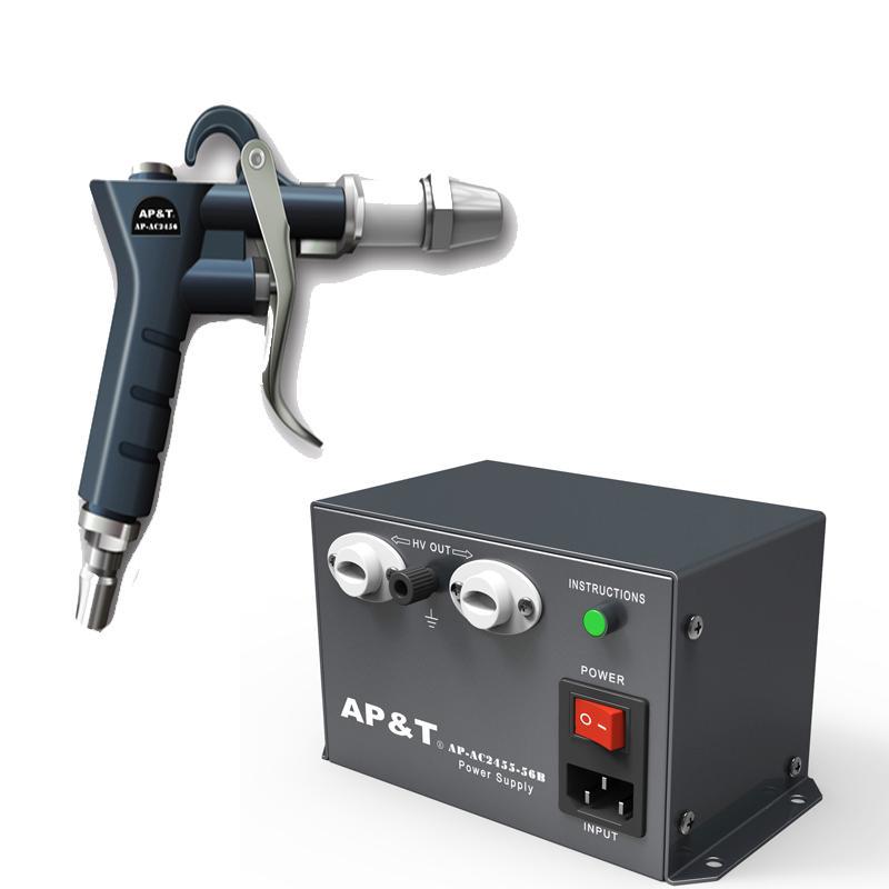 安平 离子吹尘枪2把 高压电源供应器1台 一拖二 AP-AC2456*2+AP-AC2455-28B