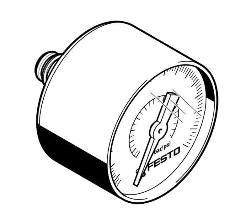 费斯托FESTO 压力表,PAGN-40-1.6M-G18,8001504