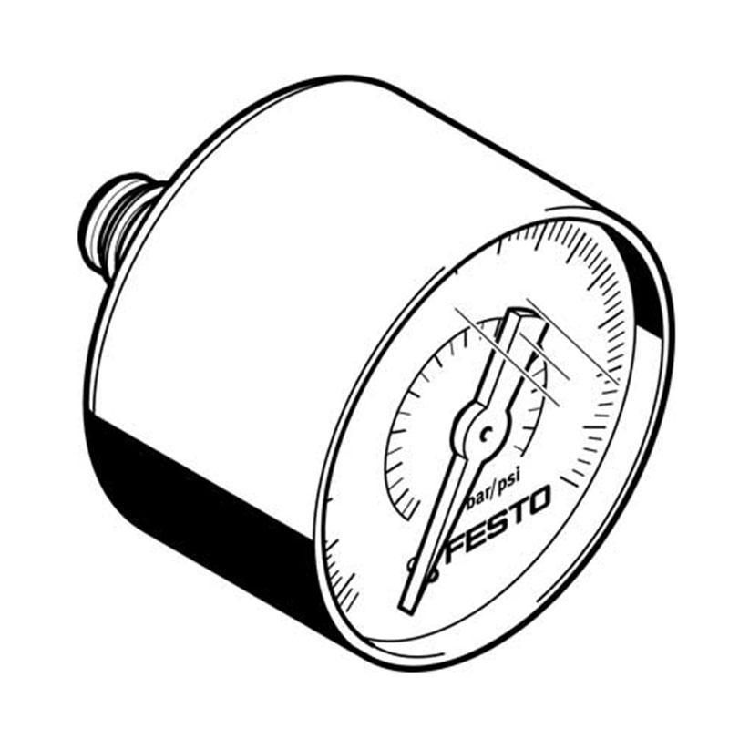 费斯托FESTO 气动压力表,PAGN-40-0.4M-R18-1.6,8037010