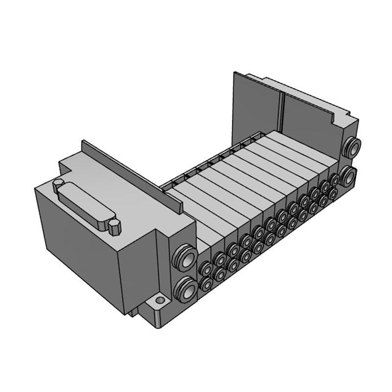 SMC 插件连接底板,SS5Y3-10F1-12B-C4