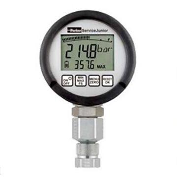 派克Parker 数显压力表,检测用,记录峰值,精度0.5%,压力400bar,Service junior,SCJN-400-01