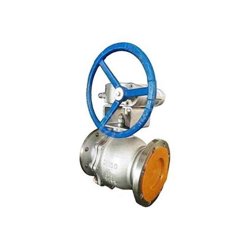 远大阀门 蜗轮不锈钢衬氟球阀,Q341F46-16P DN80