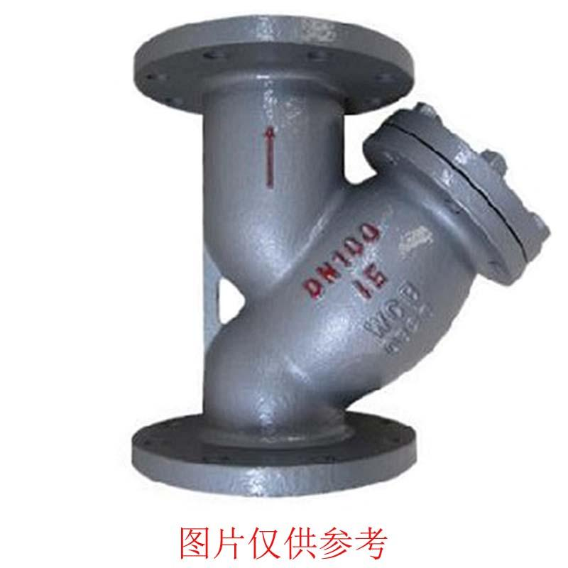 上海阀门厂 Y型过滤器 SG41H-40P DN20 CF8 法兰FM 80目