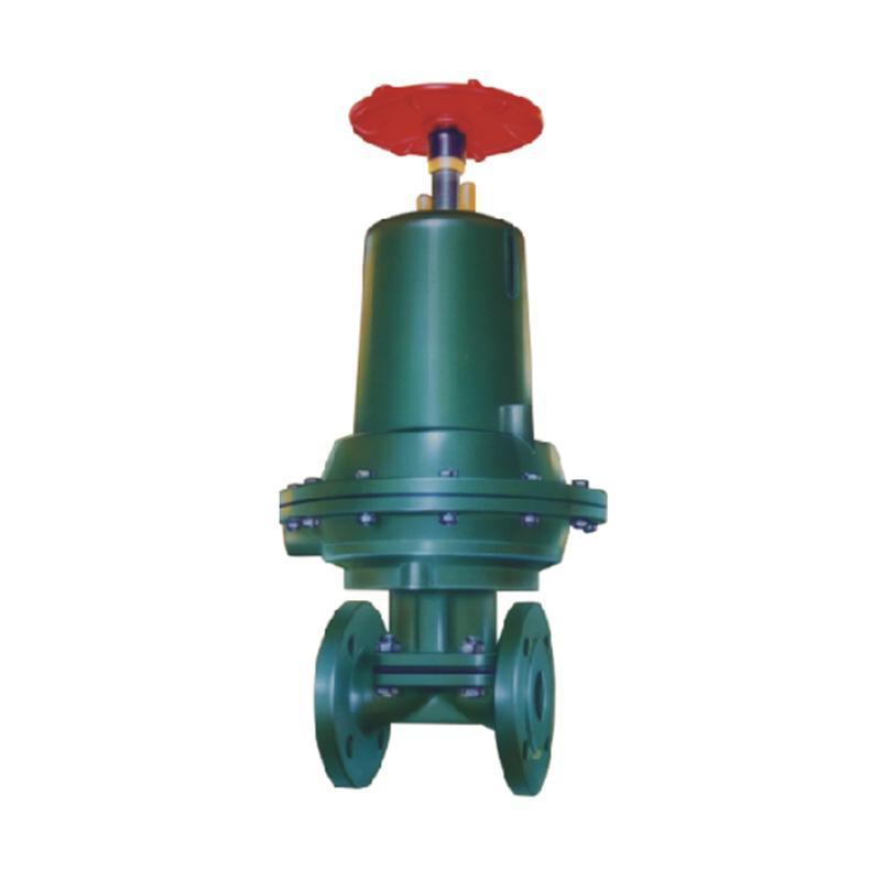 上五 气动常闭式衬胶隔膜阀,G6B41J-10-XF1,DN125,单作用常闭型气缸,带单触点反馈信号装置