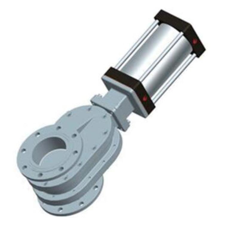 常州凯润 陶瓷双闸板气锁耐磨进料阀 SZ644TC-10Q,DN200*350