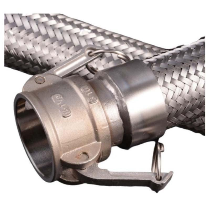 莫龙机械304不锈钢金属软管,DN20 L=400mm,1.6Mpa,软管两端为D型快速接头连接