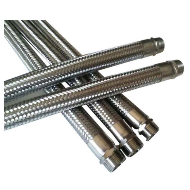 莫龙机械304不锈钢金属软管,DN40 L=800mm,1.6Mpa,软管两端为外丝(BSPT)英制锥管螺纹连接