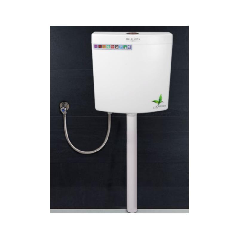 新明辉推荐 挂墙式厕所冲水箱,盎然清新款 加厚箱体+挂架安装(送安装包)