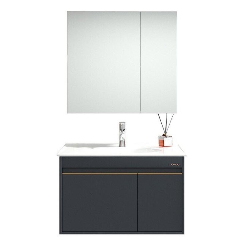 九牧 轻奢浴室柜(白色90cm),A2255-021A-1