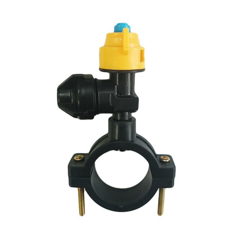 欧工 360度喷头,二分头(1/4),ABS塑料材质,配卡扣25(4分和6分管)开孔孔径7.5MM