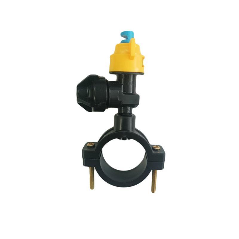 欧工 180度喷头,二分头(1/4),ABS塑料材质,配卡扣25(4分和6分管)开孔孔径7.5MM